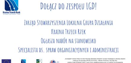 Aktualności - Nabór do LGD Specjalista ds. organizacyjnych i administracji