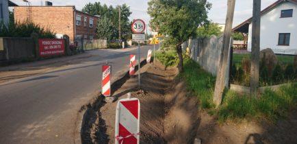 Aktualności - Trwają prace w Bogdanowie