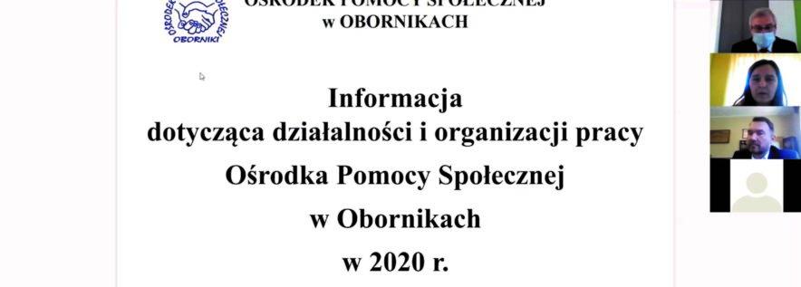 Działalność Ośrodka Pomocy Społecznej w 2020 roku